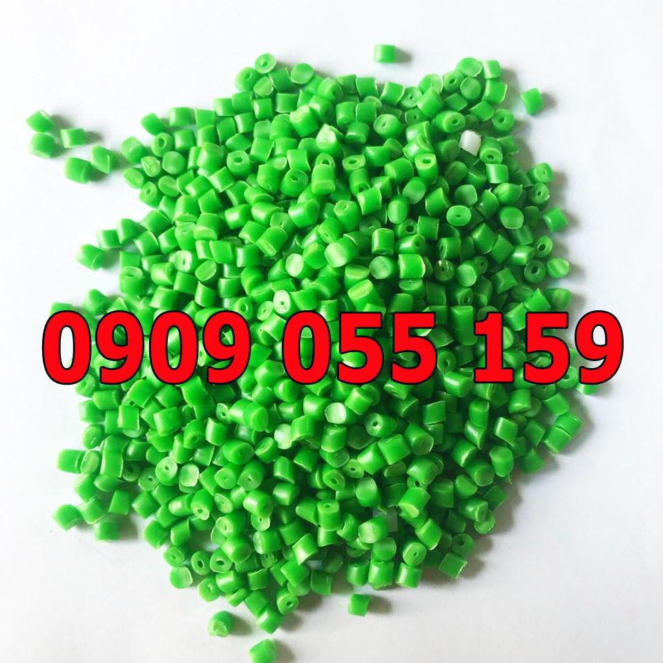 Hạt nhựa tái sinh HDPE màu xanh lá cây